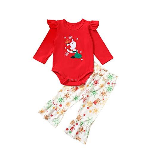 Bravoy - Pelele para recién nacidos con diseño de ciervo y gorro Rojo/Santa 6-12 Meses