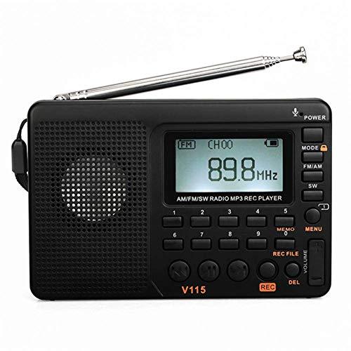 CHAO draagbare multifunctionele AM-FM-radio, timer en accu, zeer klein, compact, zeer gevoelig, goede ontvangst, geschikt voor alle personen