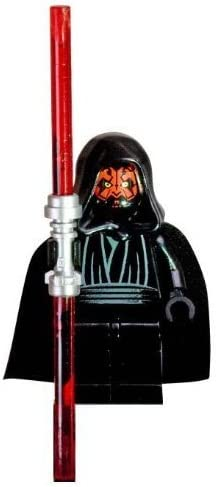 NEW Free Shipping New before selling ☆ Lego Star Wars Darth Maul Minifigure Lightsabe with Double-Sided