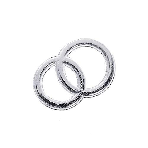 KnorrPrandell 8306214 Wachs-Eheringe, 32 mm, silber