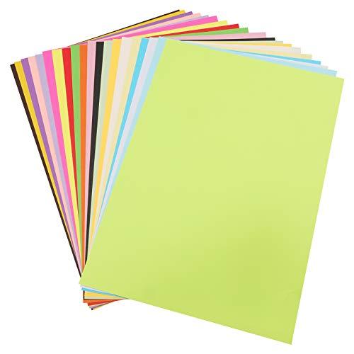 100 Hojas colore origami papel Cartulina de colores Papel para Origami A4 210 * 297mm,20 Colores Papel para Origami,Grosor de 70g/m²,Para Proyectos de Artes y Oficios e Impresión