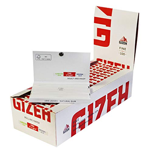 Gizeh Original Rolling Papers Magnet Pack 20 booklets 100 Leaves Each 18.5 g/m
