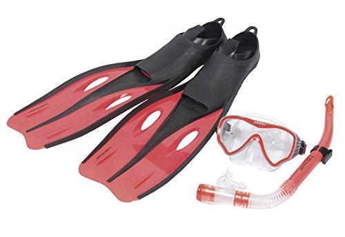 Warenhandel Koning Dunlop professionele snorkelset met duikbril BZW. Duikmasker, zwemvliezen BZW. Zwemvliezen en snorkel voor kinderen - vier maten en drie kleuren om uit te kiezen