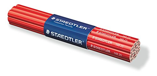 Staedtler Lot de 12 Crayons de charpentier Noir