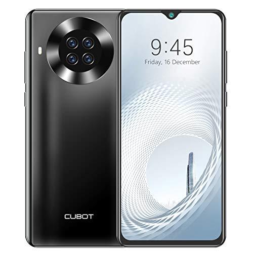 Handy ohne Vertrag, CUBOT Note 20 Pro Smartphone, 6.5 Zoll HD Display, 8GB RAM+128GB Speicher, 4200 mAh Akku, 4G Dual SIM, Android 10, 20MP AI Kamera (Schwarz)