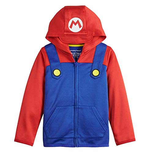 Super Mario Bros. Zip Hoodie Boys (Red, 7)