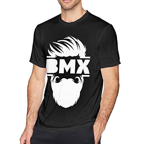 Woodworth Bearded Bmx Bike - Camiseta deportiva de manga corta para hombre, de algodón, informal, 4 x L, color negro