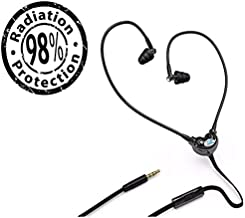 EMRSS EMF Radiation Protection Earphone Headset Sports & Fitness + Microphone (Black)