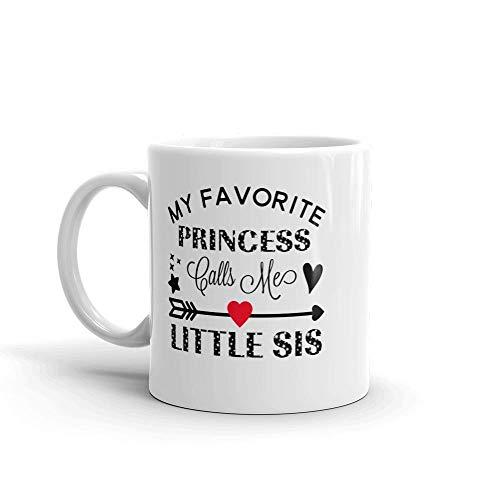 N\A Mi Princesa Favorita me Llama Little Sis Unique Ceramic Coffee Mug/Cup & mdash; Cumpleaños Día de la Madre para mamá Madre Abuela