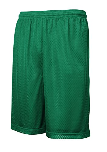 Joe's USA - Youth Moisture Wicking Mesh Athletic Shorts-L Kelly Green