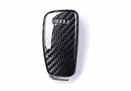 Guscio per chiave/telecomando auto in vera fibra di carbonio, per Audi A1, A3, A4, A5, A6TT