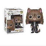 Fcunokacetr Funko Pop Harry Potter Harry Potter Dobby Snape Ron Hermione Luna Figura Hermione Cat #77
