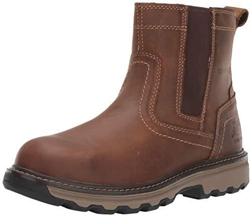 Caterpillar Men's Pelton Steel Toe Industrial and Construction Shoe, Dark Beige, 10.5 M US
