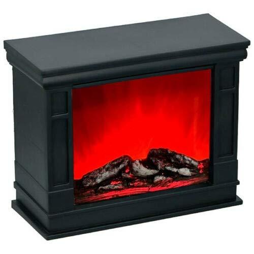 ADHW LED Kaminlaterne mit Timer - tanzende Flammen - Kaminfeuer Flammeneffekt Kamin