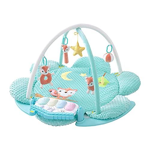 ZXJ Baby Play Blanket Fitness Marco Infantos Música Crawling Mat Kick Piano Gimnasio Centro de Actividades con Luces de música y Juguetes de Sonidos (Color : Blue)