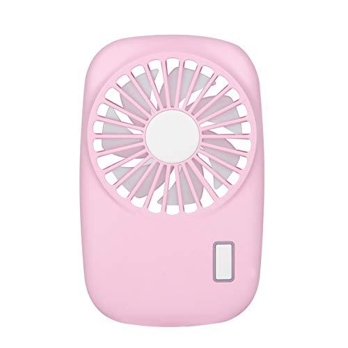ZIXUAL Ventilador eléctrico USB Recargable Ventilador de la cámara al Aire Libre portátil Ultra-Delgado Ventilador de Mano Macaron Pocket Fan Pink