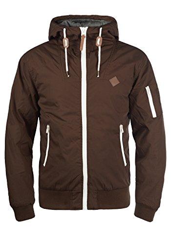 !Solid Tilly Herren Übergangsjacke Herrenjacke Jacke gefüttert mit Kapuze, Größe:XXL, Farbe:Coffee Bean (5973)
