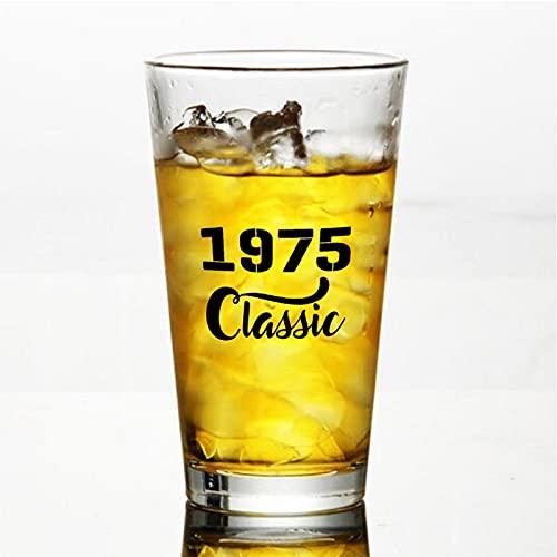 1975 Classic Craft Vasos de cerveza personalizados, vaso de cerveza de pinta de 16 onzas Ideas para Chrismas,Día de Acción de Gracias, papá, mamá, marido, esposa, padrino presente.