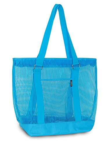 Everest Mesh Shopping Tote, Blue, One Size