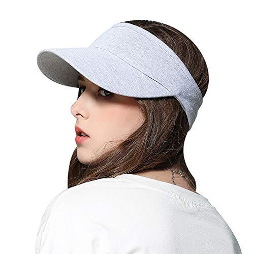 Gisdanchz Sonnenschutz Kopf Damen Golf Cap Herren Tenniskappe Sommerhut Für Herren Damen Cap Schirm Sonne Sommerhüte Damen Cap Damen Sommer Hellgrau
