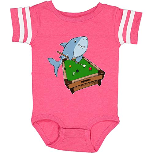 inktastic Pool Shark Infant Creeper 24 Months Football Pink and White 2a733