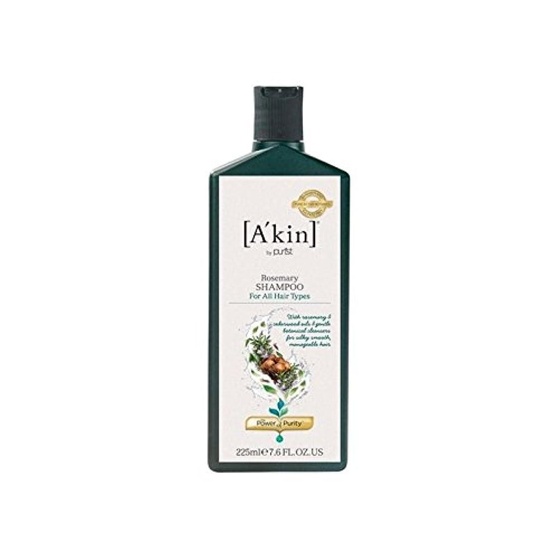 まっすぐにする強大なパイプラインローズマリーシャンプー(225ミリリットル) x4 - A'Kin Rosemary Shampoo (225ml) (Pack of 4) [並行輸入品]