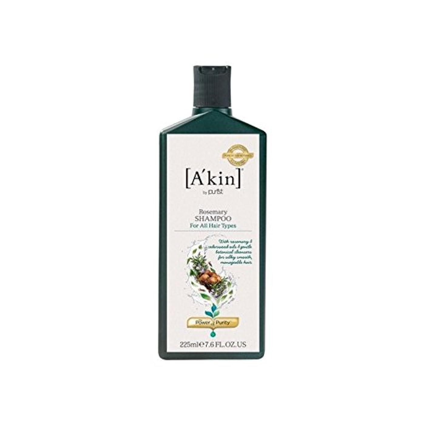 ローズマリーシャンプー(225ミリリットル) x4 - A'Kin Rosemary Shampoo (225ml) (Pack of 4) [並行輸入品]