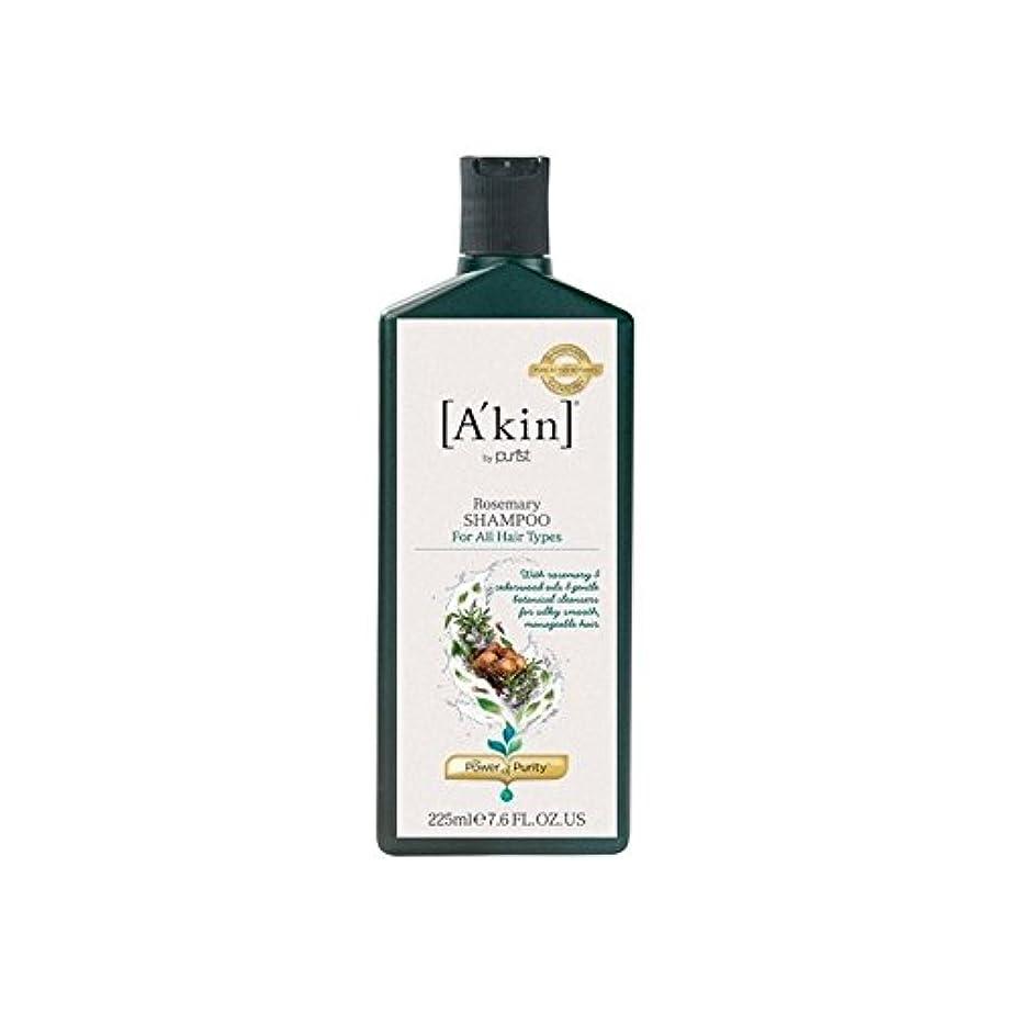キノコストラトフォードオンエイボン毒液ローズマリーシャンプー(225ミリリットル) x4 - A'Kin Rosemary Shampoo (225ml) (Pack of 4) [並行輸入品]