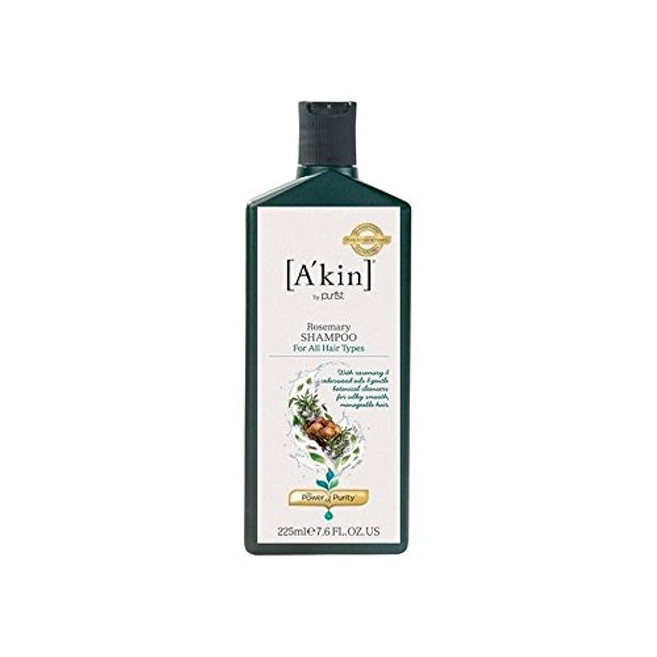 貧しいあいまいなハドルA'Kin Rosemary Shampoo (225ml) (Pack of 6) - ローズマリーシャンプー(225ミリリットル) x6 [並行輸入品]