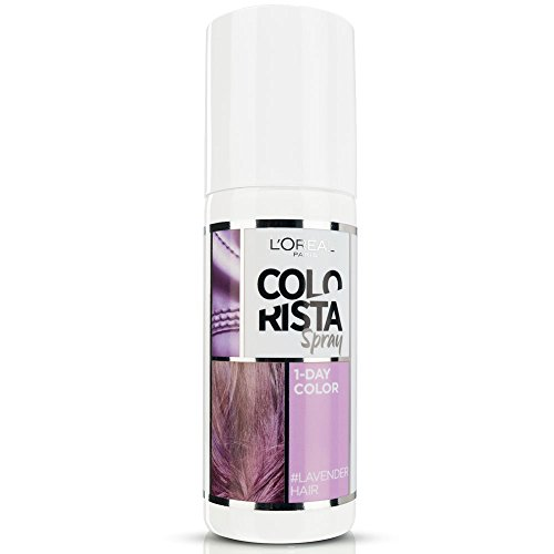 L'Oréal Paris Colorista Spray 1-Day Color Colorazione Temporanea un Giorno, Lavanda (Lavender)