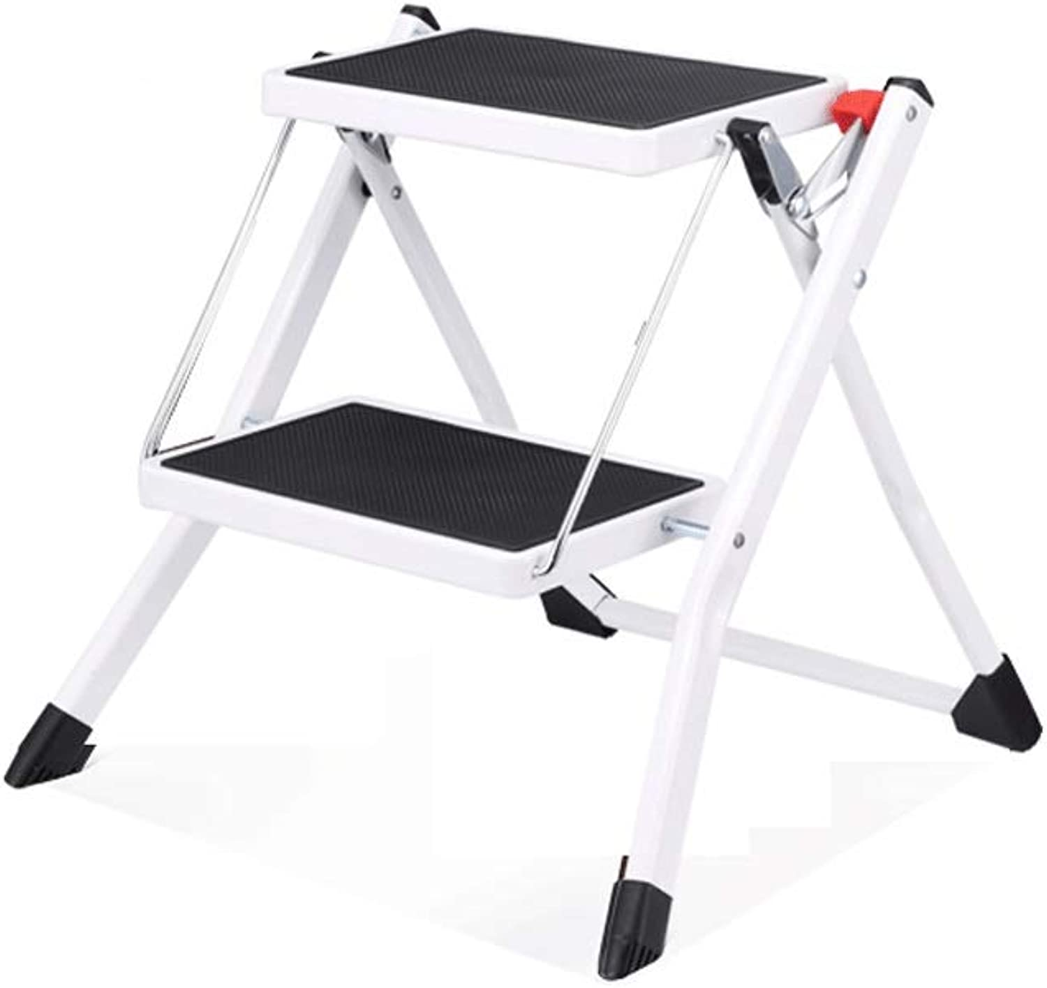 Qing MEI Step Stools Home Indoor Small Two-Step Ladders Portable Folding Ladders Kitchen Step Stools A++ (color   A)