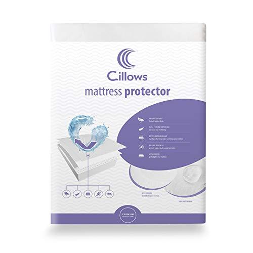 Cillows 100% Wasserdichter Matratzenschoner 200x200 | Hygienische und atmungsaktive Matratzenauflage | Anti-Allergie Matratzenschutz | Wasserfester Rundumbezug | Optimaler Anti-Milben Bezug