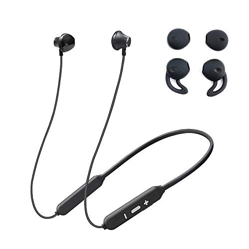Vech Bluetooth Headphones, Wireless Earbuds for Gym, Noise Cancelling Headsets for Workout, Sports Earphones with Mic, Best Beats Waterproof Cordless Sports Ear Buds, Neckband Headphones for Jogging