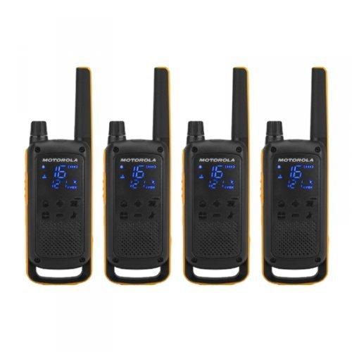 Motorola Talkabout T82 Extreme PMR446 2-Way Walkie Talkie Radio Quad Pack - Yellow / Black