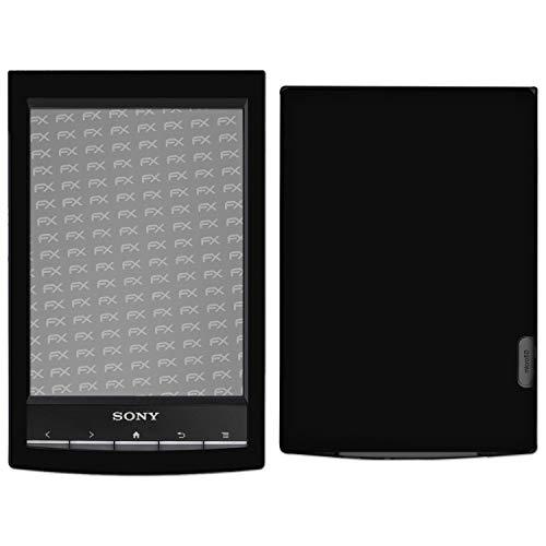 atFoliX Skin Compatibile con Sony PRS-T1 Reader, Sticker Pelle (FX-Velvet-Black), Superficie Opaca