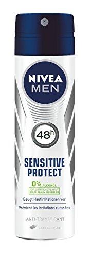 Nivea Men Sensitive Protect Spray Deo, Antitranspirant, 2er Pack (2 x 150 ml)