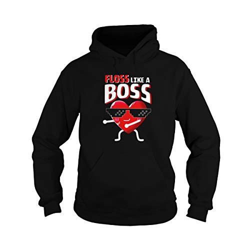 Zoko Apparel Floss Like A Boss - Camiseta unisex para San Valentín
