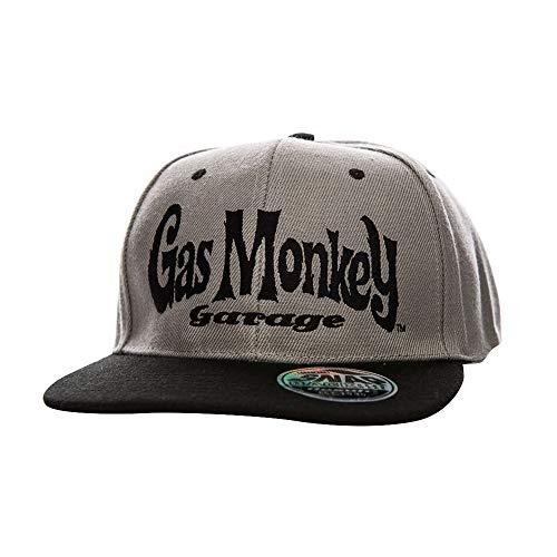 Gas Monkey Garage Offizielles Lizenzprodukt Logo Einstellbare Größe Snapback Kappe (Schwarz/Grau)