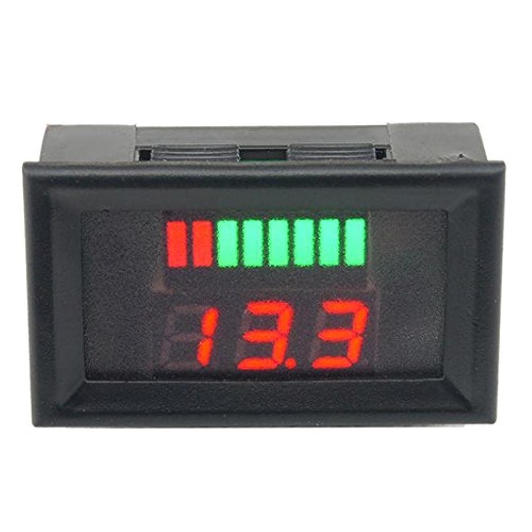 甘くする唯物論膨らみDC 12?60 V鉛蓄電池容量LEDインジケータデジタル電圧計テスタインジケータモニタアナライザAC 5?15 mA