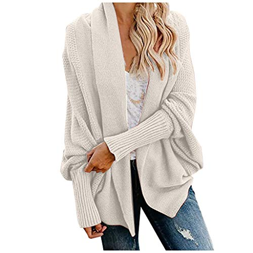 Cardigan Damen Lang Strickmantel Strickjacke Sweater Elegant Manschette Langarm Sweatshirt Langen Mantel Jacke Tops Outwear Casual Offen Pulllover Damen Herbst Winter Outing Stil