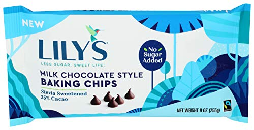 Lily's Sweets, Milk Chocolate Style Baking Chips, 9 Ounce