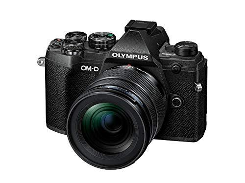 Olympus OM-D E-M5 Mark III - Kit de cámara del sistema Micro Four Thirds System Camera Kit, 20 MP sensor, enfoque automático, video 4K, Wi-Fi, plata, incluye objectivo M.Zuiko PRO Lens 12-45 mm, negro