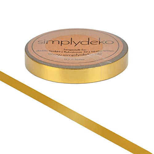 Simplydeko Washi Tape Metallic & Glitzer | Masking Tape | Washitape | Bastel-Klebeband aus Reispapier | Deko-Tape zum Basteln & Scrapbooking | Gold schmal