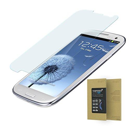 doupi Pellicola Vetro Temperato per Samsung Galaxy S3, Premium 9H HD Protettiva Protezione dello Schermo Tempered Glass