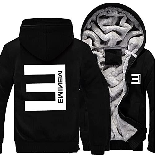 rgbh Sudadera con capucha para hombre - Eminem/Slim Shady Printed Jacket Warm Sweater Zipper Cardigan de manga larga abrigos uniformes de béisbol F-M