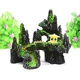 ZT TRADE Acuario Artificial Ornamental Molino de Viento rocosa pecera decorativeresien OrnamentPet suppliesacuario D Decorativo subacuático #4