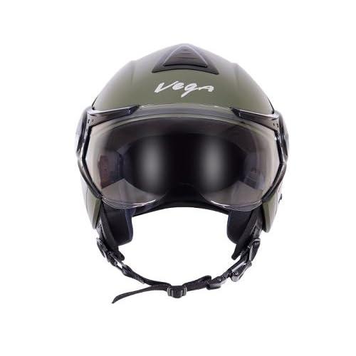 Vega Verve Open Face Helmet (Women's, Dull Army Green, S (56 cm))