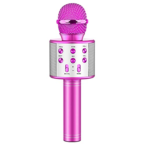 Evassal Wireless Karaoke Microphone for Kids,Toys for Boys Girls Age 4-14 Year Old Kids Microphone for Birthday Gift Present