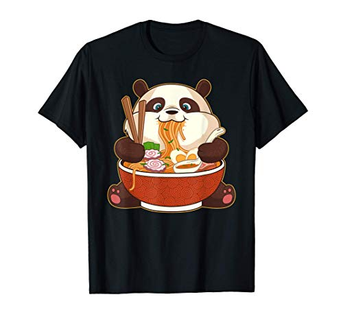 Kawaii Cute Anime Panda Otaku Japanese Ramen Noodles Gift T-Shirt