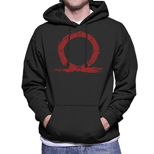 Cloud City 7 Symbol God of War Hero Blood Silhouette Men's Hooded Sweatshirt